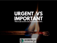 Urgent Vs Important & Your Time Management