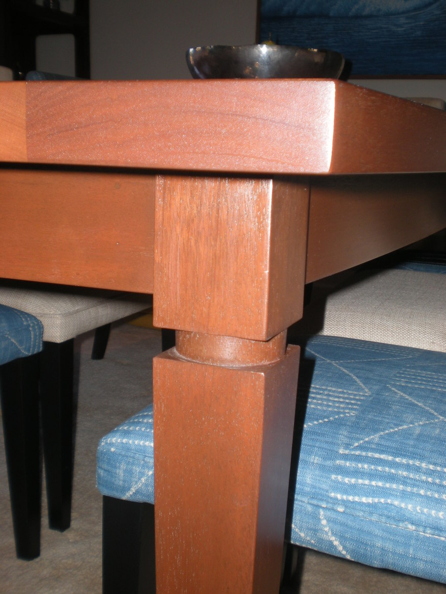 Boat Shaped Dining Table Detail