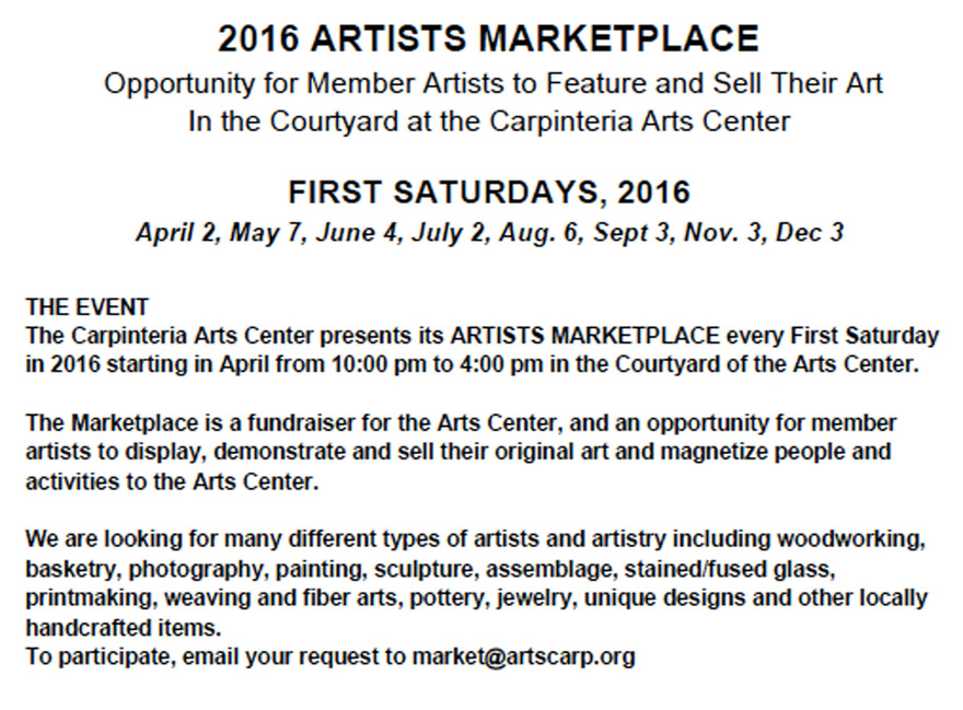 Artist's Marketplace - First Saturdays