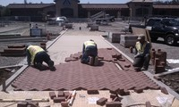 Commercial Brick Pavers Installation 1