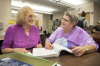 Seniors studying