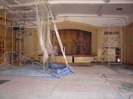 Carrillo Ballroom Stage During Construction 2010