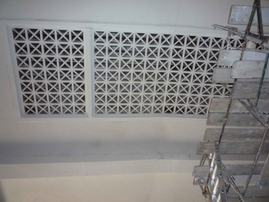 Carrillo Ballroom Ceiling During Construction