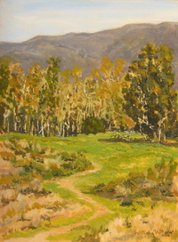 """""""Path to the Trees"""", 9"""" X 12"""", oil, $350.00"""