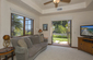 Ensuite Sitting Room with French Doors to Yard and Views