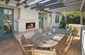 Outdoor Patio with Fireplace and built-in BBQ