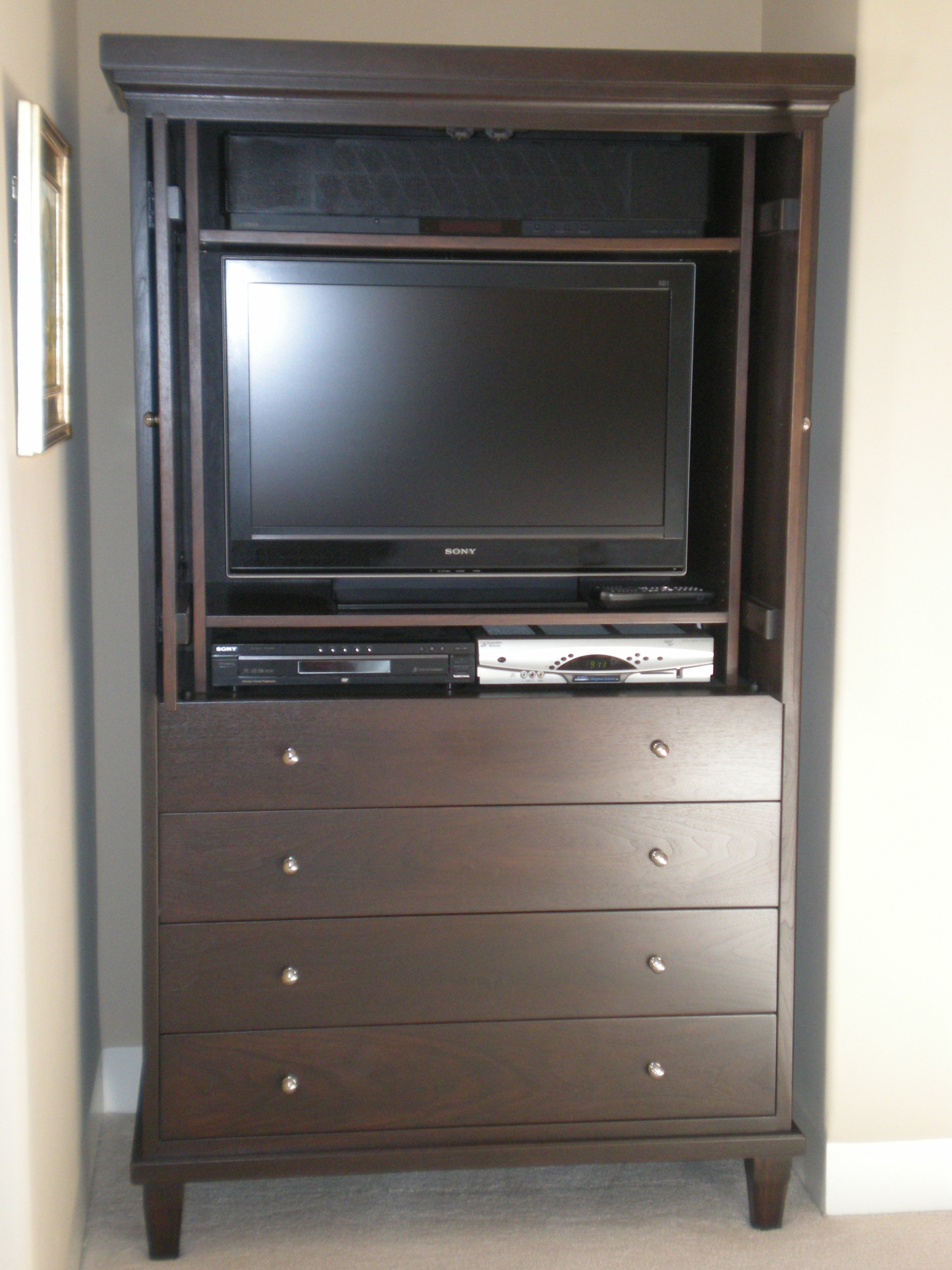 Custom Walnut Media Cabinet