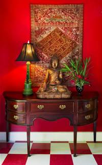 Red Buddha Linda Adams Santa Barbara Interior Designer