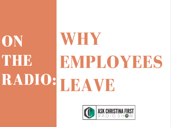 Radio: Why Employees Leave