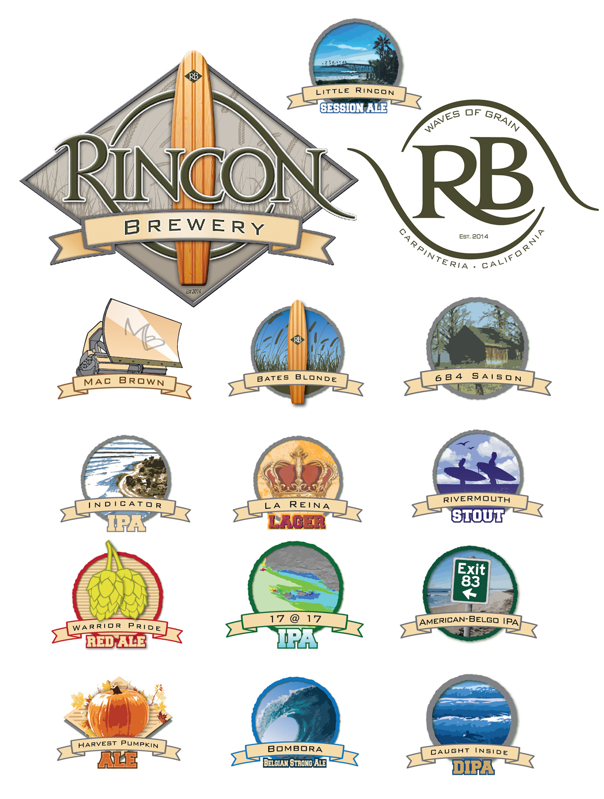 Branding Michael Bayouth Rincon Brewery Carpinteria