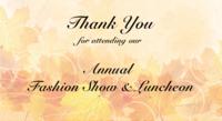 2016 Annual Fashion Show & Luncheon