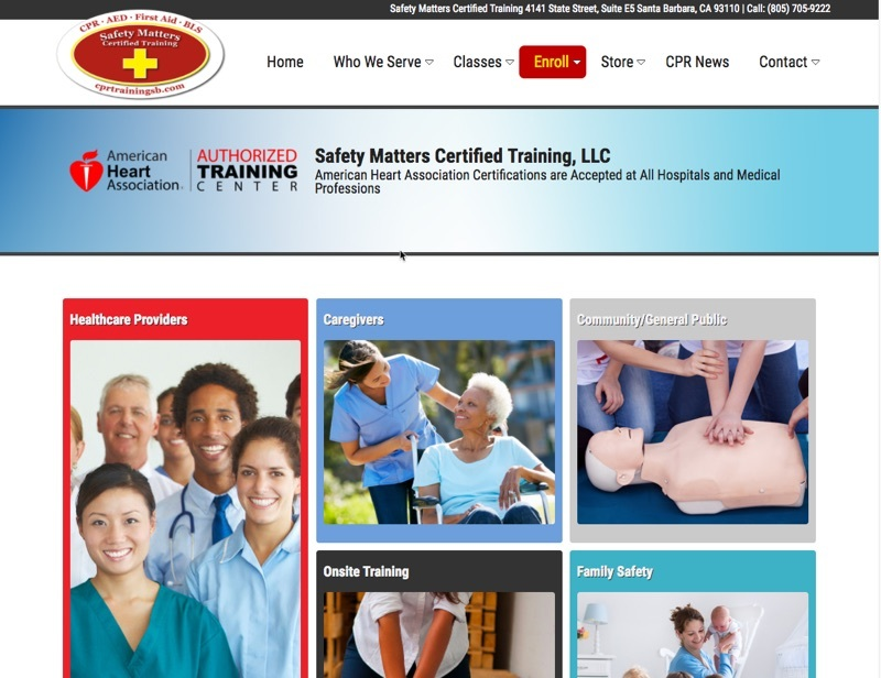 Safety Matters Certified Training -- CPR and AED Classes