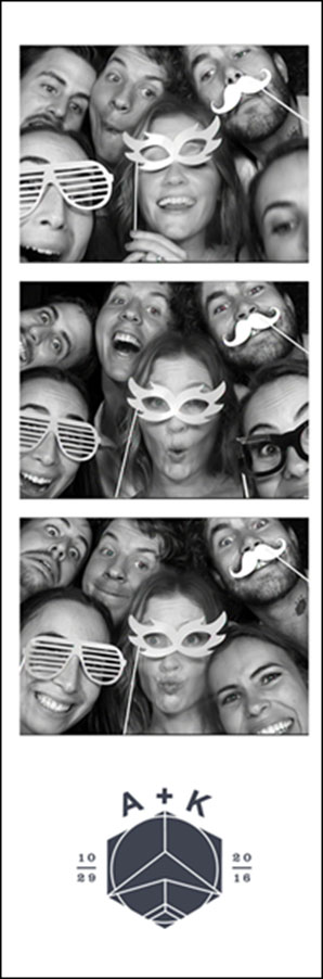 Photo Booths closed booth strip wedding