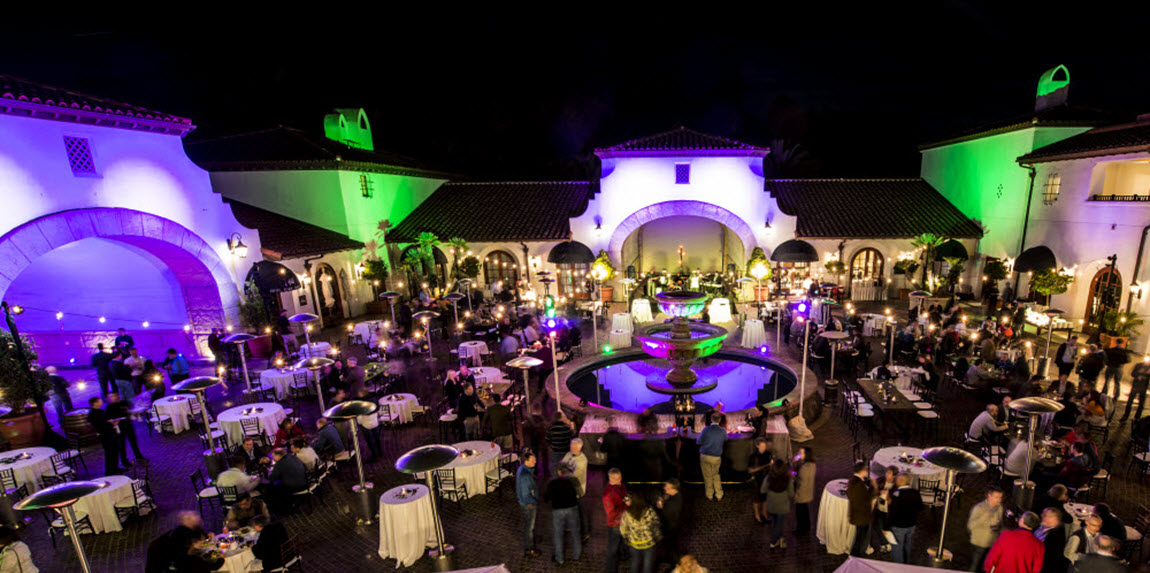 Santa Barbara event lighting Bacara