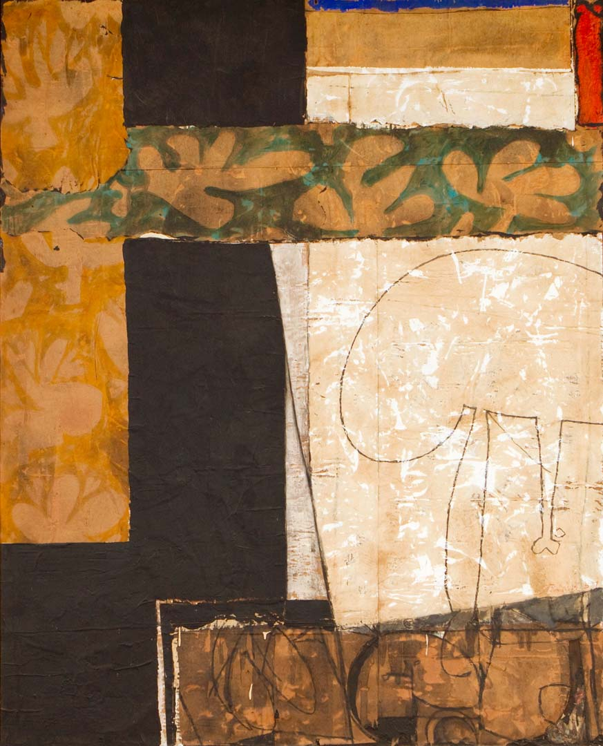 American Abstract Painter James Jarvaise Early Collages
