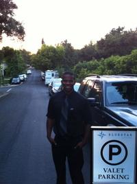 DeAndre Williams providing excellent guest service at Montecito Wedding Rehearsal Dinner!