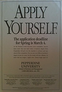 Ad for Pepperdine University Business School Los Angeles