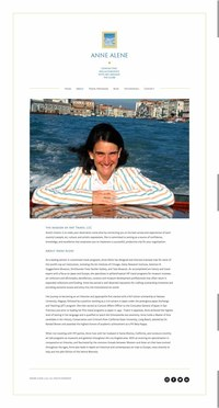 Anne Alene - Art Travel for Philanthropists-About Page