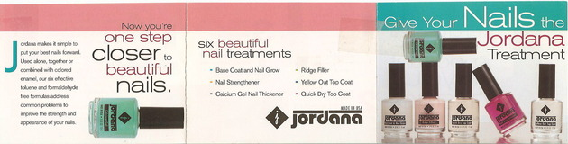 Jordana Nail Care Brochure - outside