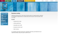 Western Commercial Bank Website - Business Lending page