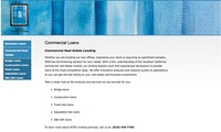 Western Commercial Bank Website - Commercial Loans page