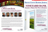 Vineyard Bank OC Business Journal Wrap - Outside