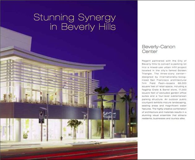 Regent Properties Brochure - Beverly-Canon Center