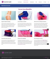 Curve Cure Website Why Choose Page