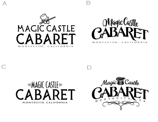 Magic Castle Cabaret branding exploratory