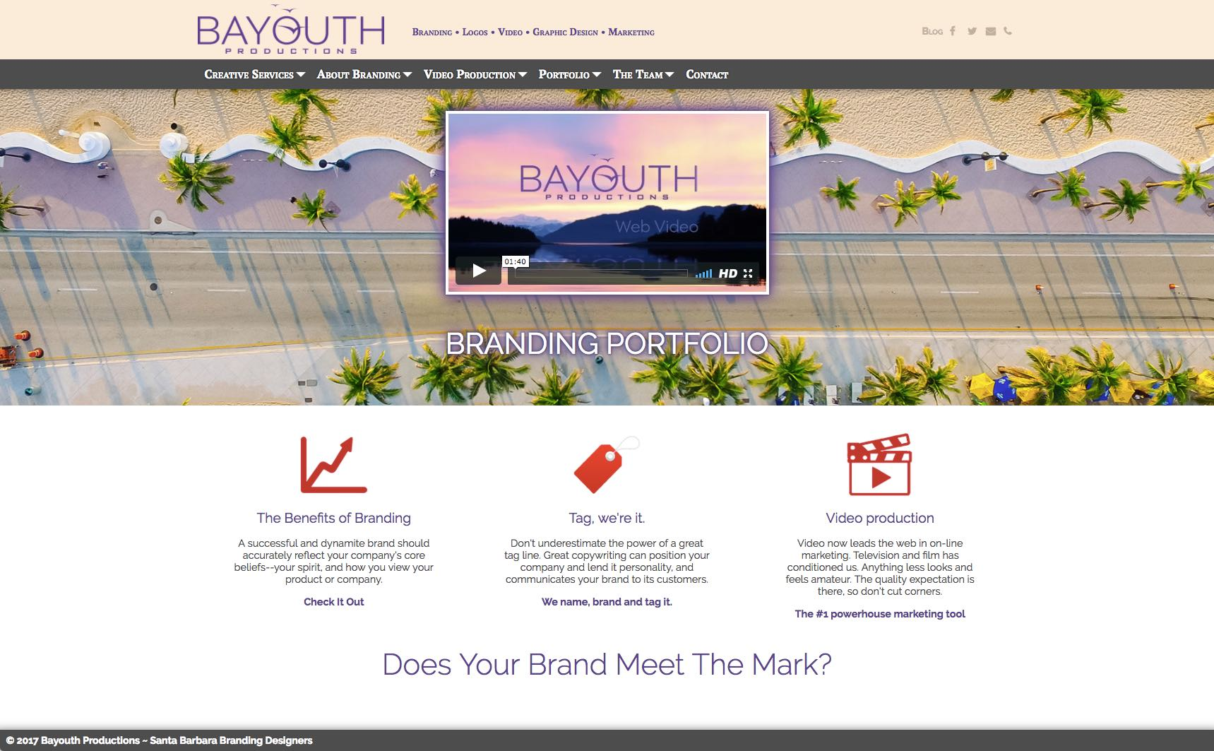 Branding by Santa Barbara Artist Michael Bayouth Homepage