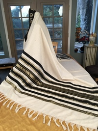 Santa Barbara Cantor Mark's Tallit Side