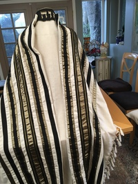 Santa Barbara Cantor Mark's Tallit Back