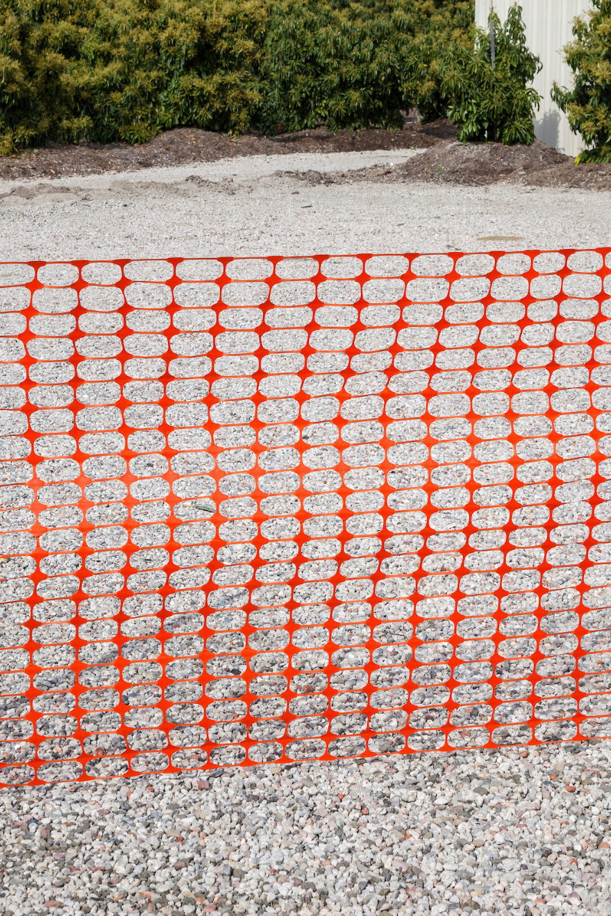 Orange Plastic Barrier Fencing Marborg Industries, Inc
