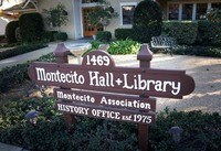 Montecito Library and Historical Collection Sign