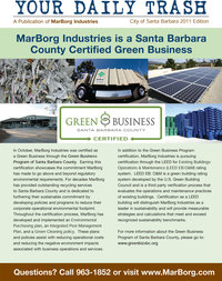 Winter 2011 - Your Daily Trash Newsletter - City of Santa Barbara