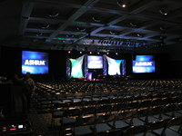 Audio Visual ASHRM conference, San Diego Convention Center