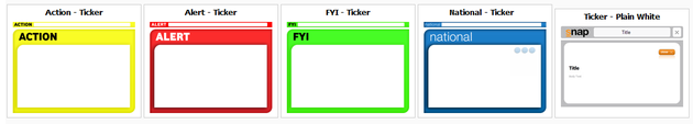 Ticker Scroll Template examples.