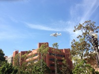 USC and a Space Shuttle flyover