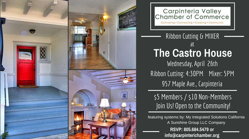 Ribbon Cutting and Mixer - The Castro House
