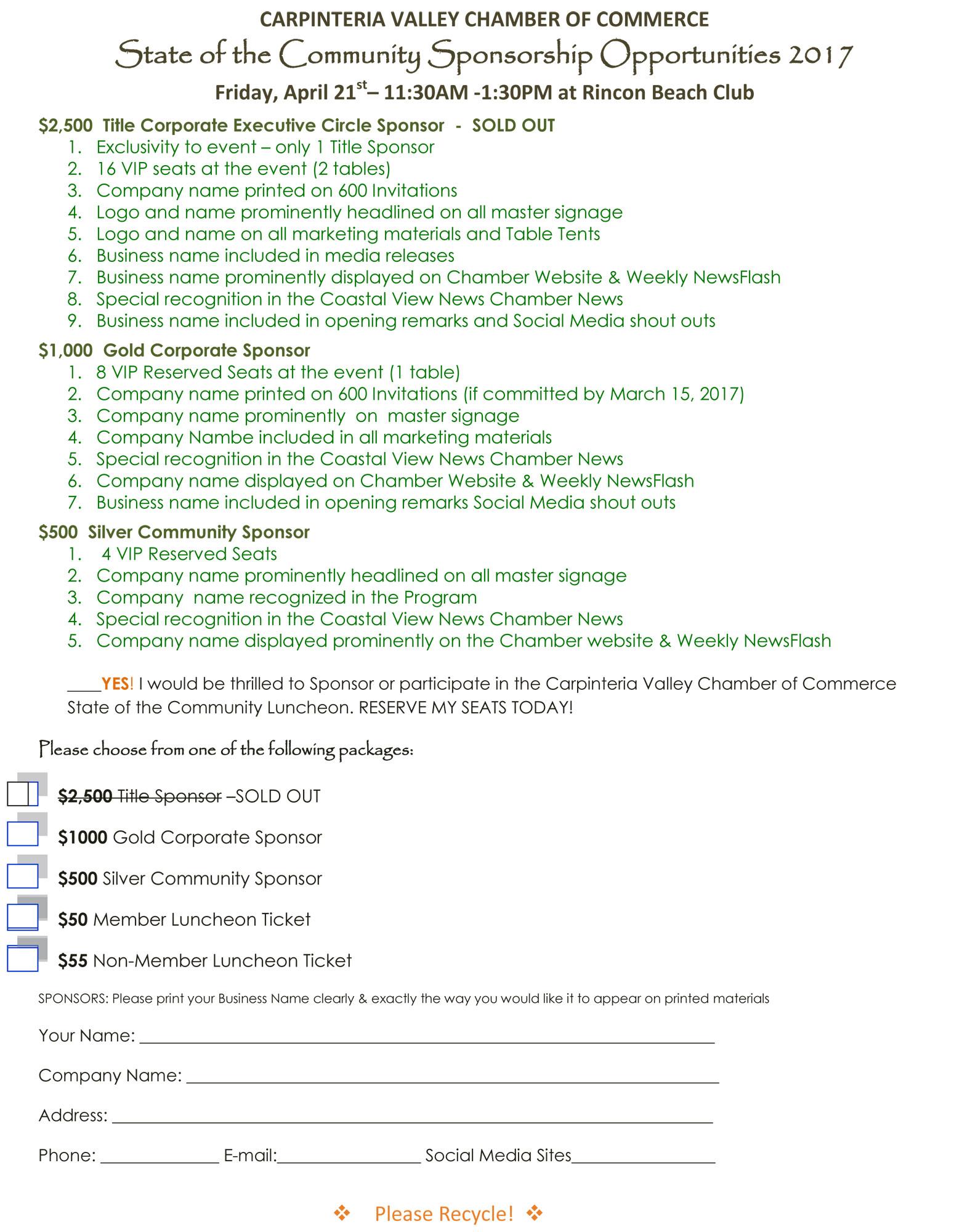 State of the Community Sponsorship pg 2