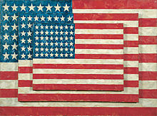 Jasper Johns American Abstract Painter Three Flags