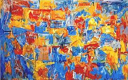 Jasper Johns American Abstract Painter Map