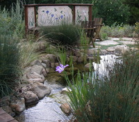 Pond Waterfall Mosaic