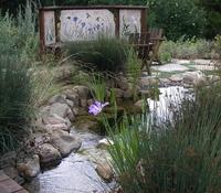 Pond Waterfall Mosaic