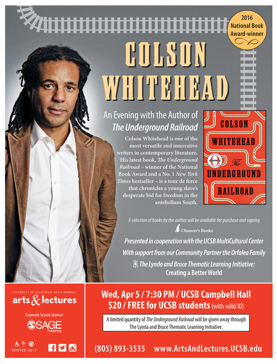 "Colson Whitehead - ""The Underground Railroad"""