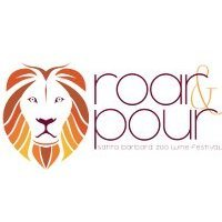 Roar and Pour Wine Festival at the SB Zoo Logo