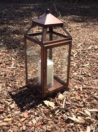 Medium Copper Candle Lantern