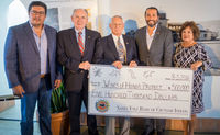 From left: Mike Lopez, Santa Ynez Band of Chumash Indians Business Committee member; Peter Jordano, Wings of Honor Honorary Fundraising Campaign Chairman; B.Gen. Fredrick R. Lopez, USMCR (Ret.), Wings of Honor Project Committee Chairman; Kenneth Kahn, Cha