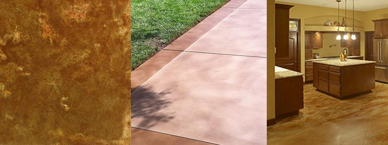 Decorative Concrete Color Stains Gallery