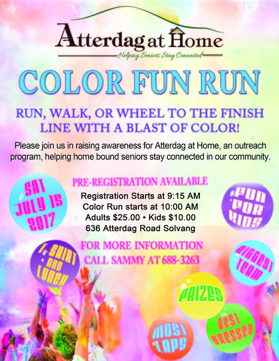 Atterdag At Home Color Fun Run